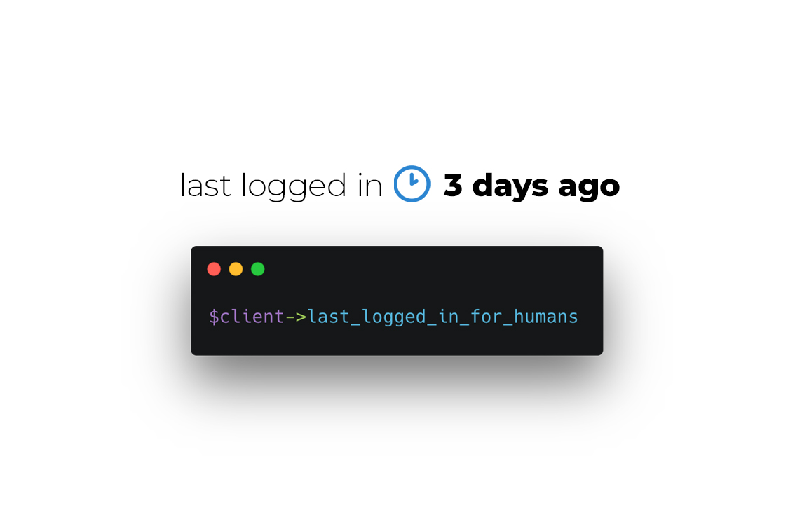 Eloquent Human Timestamps