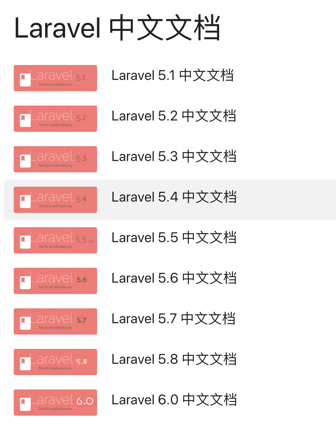Laravel中文文档
