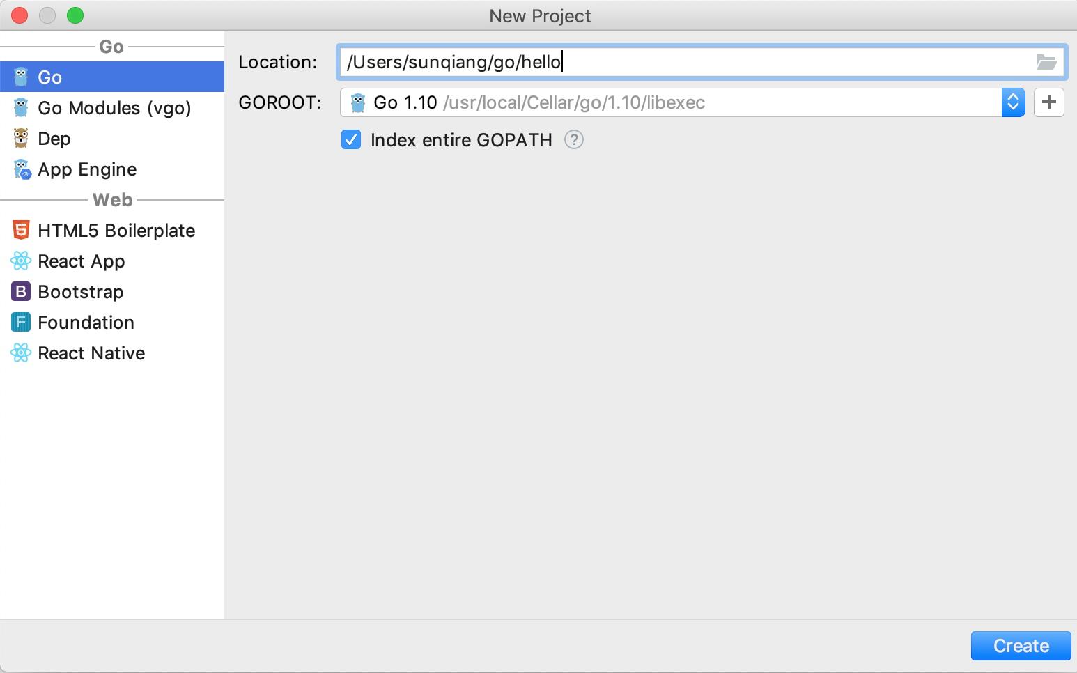 创建 Go 微服务项目