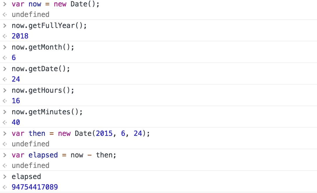 使用 Date 对象创建日期和时间