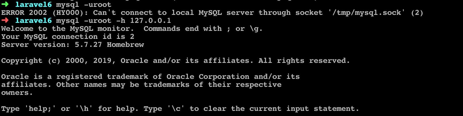 在命令行连接 MySQL
