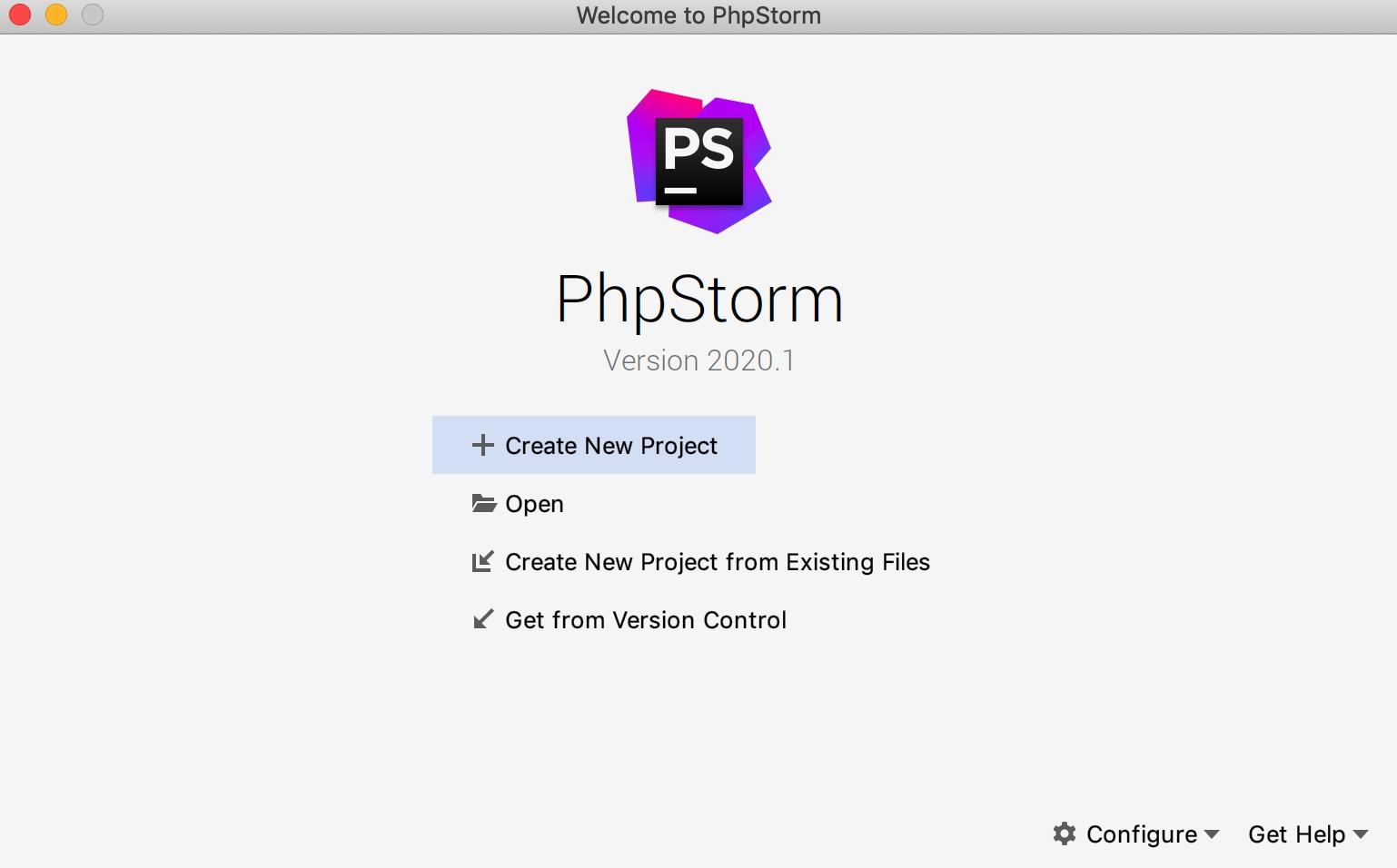 在 PhpStorm 中创建新项目