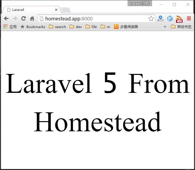 Homestead站点访问测试