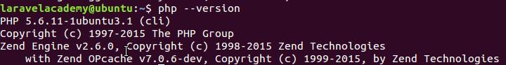 Ubuntu查看PHP安装版本