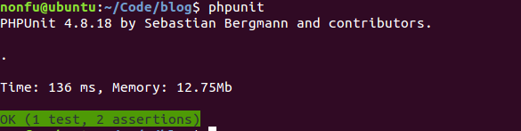 Laravel 提供的PHPUnit测试示例