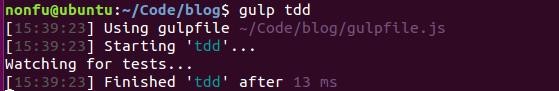 使用gulp tdd实现自动化测试