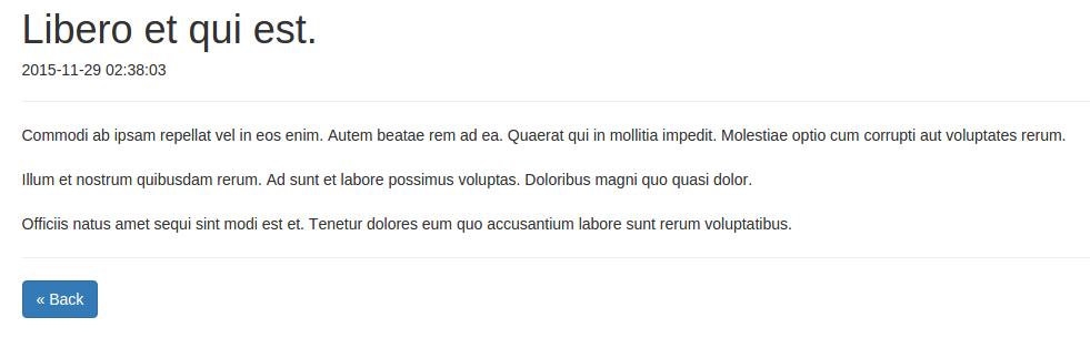 Laravel创建的博客文章页
