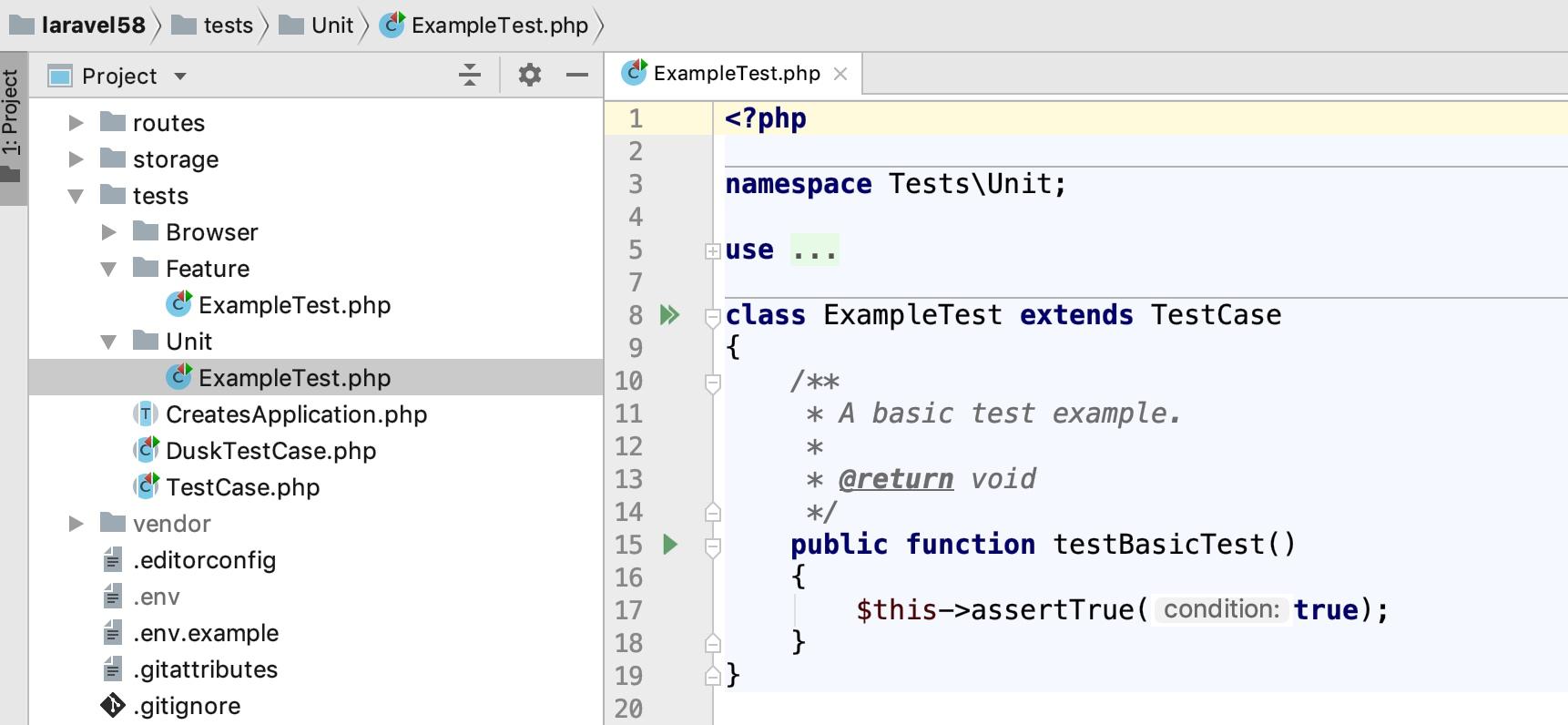 Laravel测试目录结构