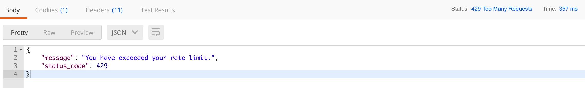 Dingo API路由访问频率限制