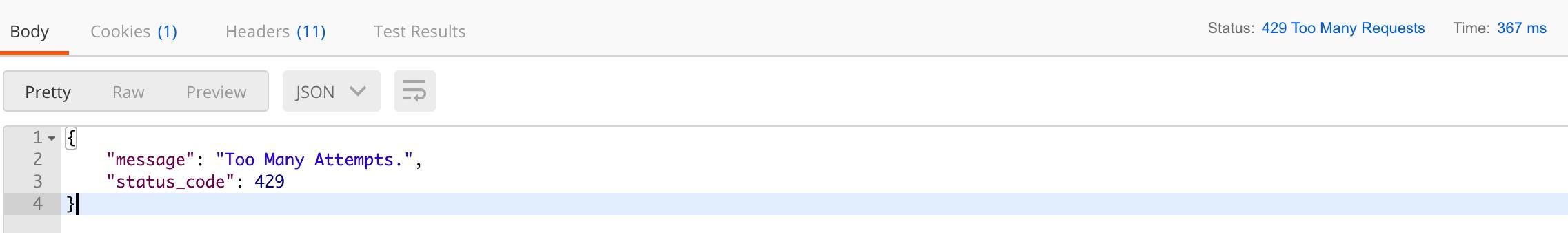 Dingo API 路由访问频率限制