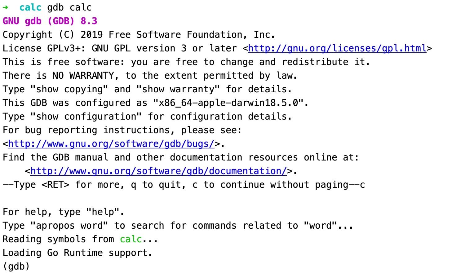 GDB 代码调试